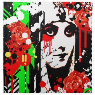 Nostalgic Seduction - Zombie Queen Roses Napkin