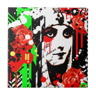 Nostalgic Seduction - Zombie Queen Roses Tile