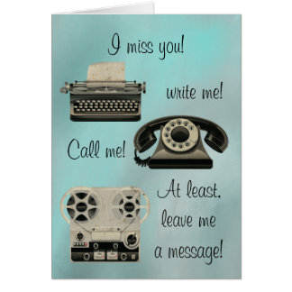Nostalgic Write me Call Me Card