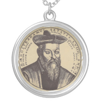 Nostradamus classic. silver plated necklace