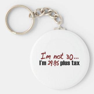 Not 30 $29.95 Plus Tax Basic Round Button Key Ring