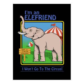 Not a circus animals postcard