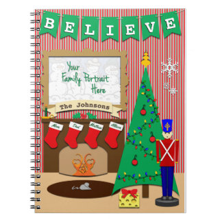 Not A Creature Was Stirring Christmas Customizable Spiral Note Books