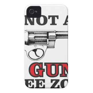 not a gun free zone tag iPhone 4 cover
