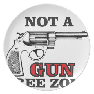 not a gun free zone tag plate