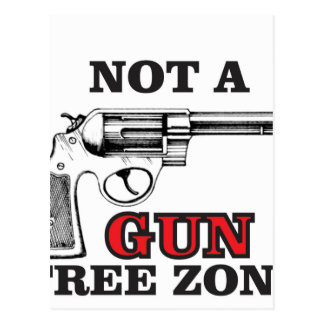 not a gun free zone tag postcard