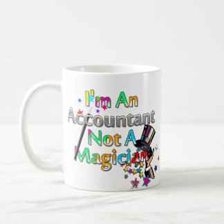 Not A Magician Basic White Mug