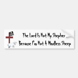 Not A Mindless Sheep Bumper Sticker