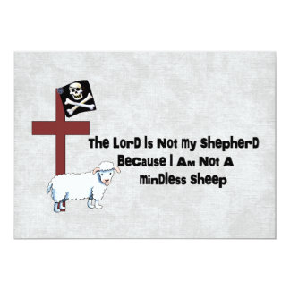 "Not A Mindless Sheep 5"" X 7"" Invitation Card"