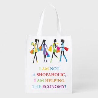 Not A Shopaholic Reusable Grocery Bag