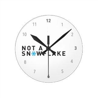 Not a snowflake democrat Kekistan MAGA joke Round Clock