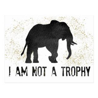 Not A Trophy Elephant Protest Postcard