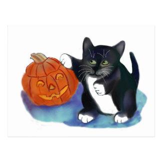 Not a very Scary Halloween Pumpkin Postcard