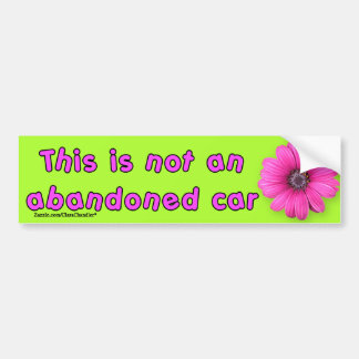 Not Abandoned Funky Bumper Sticker