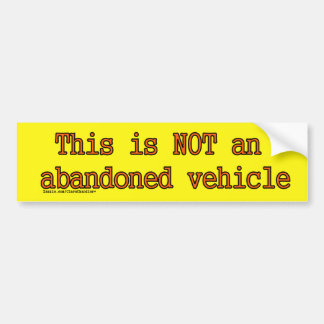 Not Abandoned Sticker