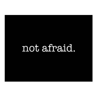 Not Afraid Inspirational Bravery Quote Template Postcard