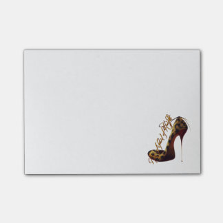 """Not Afraid of Heights"" Tres Chic High Heel Design Post-it Notes"