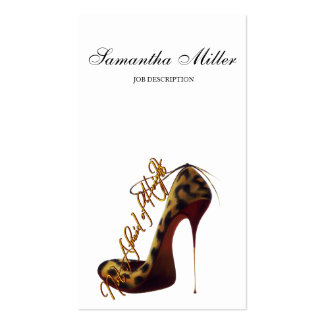 """Not Afraid of Heights"" Tres Chic High Heel Pump Pack Of Standard Business Cards"