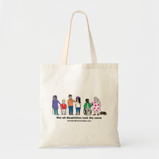 Not All Disabilities Look the Same Budget Tote Bag