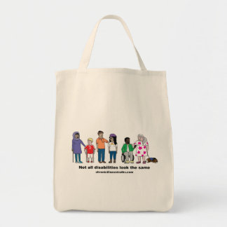 Not All Disabilities Look the Same Grocery Tote Grocery Tote Bag