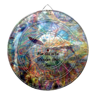 Not All Those Who Wander Inspirational Quote Dartboard
