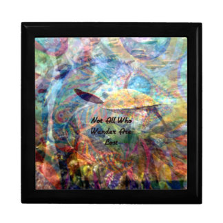 Not All Those Who Wander Inspirational Quote Gift Box
