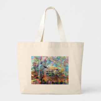 Not All Those Who Wander Inspirational Quote Large Tote Bag