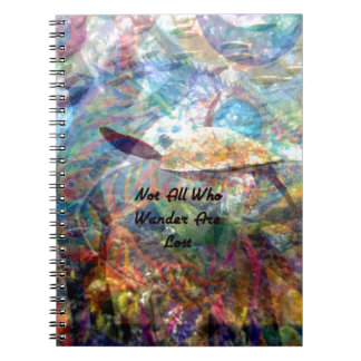 Not All Those Who Wander Inspirational Quote Spiral Notebook
