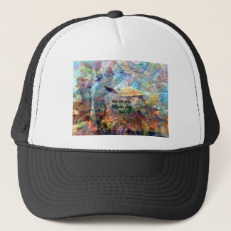 Not All Those Who Wander Inspirational Quote Trucker Hat