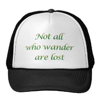 Not All Who Wander Hat