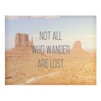 Not All Who Wander Postcard