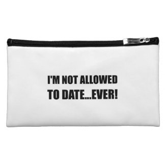Not Allowed Date Ever Makeup Bag