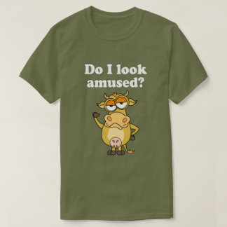 Not Amused Cow T-Shirt
