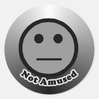 Not Amused Round Sticker