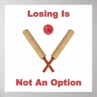Not An Option Cricket Print