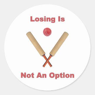 Not An Option Cricket Round Sticker