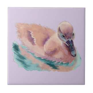 """""""Not an Ugly Duckling"""" Ceramic Tile"""