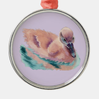 """Not an Ugly Duckling"" Metal Ornament"