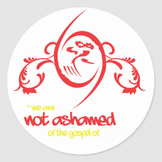Not Ashamed Classic Round Sticker