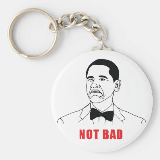 Not Bad Basic Round Button Key Ring