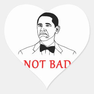 Not bad - meme heart sticker