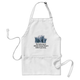 Not believing in climate change standard apron
