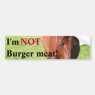 NOT Burger Meat Bumper Sticker