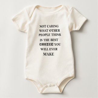 not caring what other people think is the best baby bodysuit