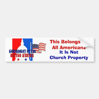 Not Church Property Bumper Sticker