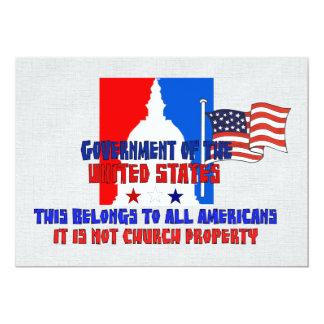 "Not Church Property 5"" X 7"" Invitation Card"