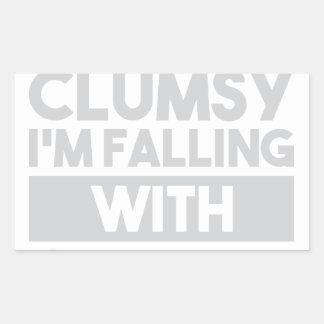 Not Clumsy Rectangular Sticker