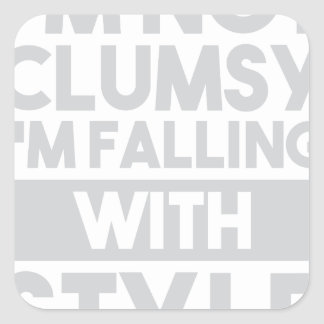 Not Clumsy Square Sticker