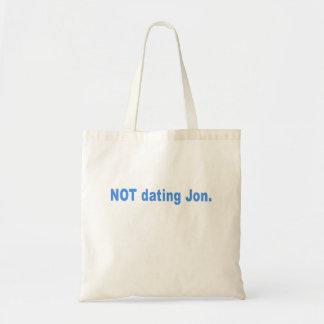 Not Dating Jon T-shirts, Mugs, Buttons, Gifts Budget Tote Bag