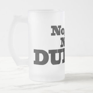 Not Durnk! Frosted beer glass Frosted Glass Beer Mug